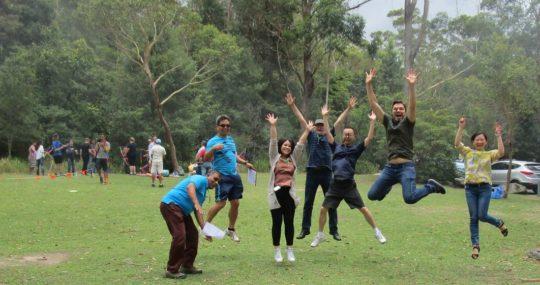 Jumping team bonding